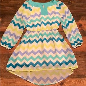 Girls chevron print dress
